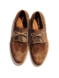 Antonio Maurizi Suede Wingtip Oxfords