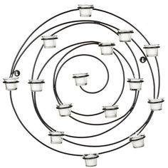 Circular wall mount tea light panel