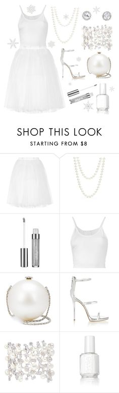 """""""Snowflake"""" by h3rm10n3 ❤ liked on Polyvore featuring Ballet Beautiful, Red Camel, Maybelline, Lost & Found, Chanel, Giuseppe Zanotti, Anabela Chan and Essie"""