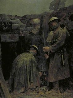 Humanity Bearer Post, Cambrin Sector by Gilbert Rogers (1916)