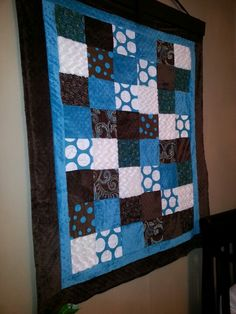 Fun quilt for babies room