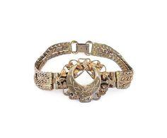 Victorian Revival Gold Embossed Bracelet  Gold by zephyrvintage