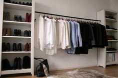 Great idea for turning the spare bedroom into a closet... like Jessica. :-P