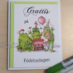 """Carina on Instagram: """"#artimpressions #Frogset #kort #card #måla #coloring #copic #copicsketch"""""""