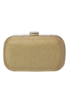 Textured Glitter Hardcase Clutch in GOLD #15789 - colette by colette hayman $60