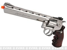 WG CO2 Full Metal 8 High Power Airsoft 6mm Magnum Gas Revolver (Chrome)