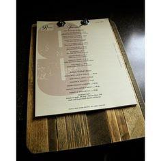 wood + paper menu