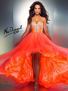 A fashion look from March 2013 featuring platform shoes and red prom dress. Browse and shop related looks. Orange Gown, Orange Prom Dresses, Grad Dresses, Homecoming Dresses, Sparkly Dresses, Wedding Dresses, Neon Dresses, Pageant Dresses, Dresses Dresses