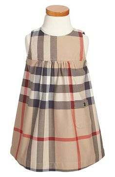 Burberry Sleeveless Check Dress (Toddler Girls) available at #Nordstrom
