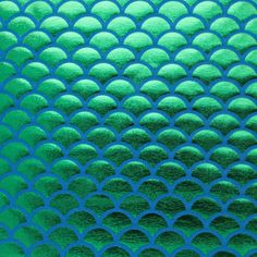 Spandex Big Fish Scale Green on Blue 58 Inches Wide Fabric By The Yard