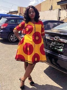 The complete pictures of latest ankara short gown styles of 2018 you've been searching for. Short African Dresses, Latest African Fashion Dresses, African Print Fashion, Africa Fashion, African Print Dresses, Kitenge, African Print Dress Designs, African Attire, Beautiful
