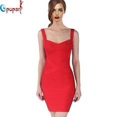 2016 New Women Sexy Spaghetti Strap Rayon HL Elastic Celebrity Bandage Dress Bodycon Mini Club Party Dresses Drop Ship HL8675 * Want to know more, click on the image.