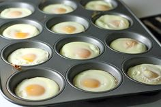 Christmas morning brunch here we come.Cook eggs in muffin tin! For making a big batch of Egg McMuffin-style sandwiches suitable for freezing. Or for a large brunch party! Breakfast And Brunch, Breakfast Dishes, Breakfast Recipes, Breakfast Sandwiches, Egg Sandwiches, Perfect Breakfast, Breakfast Ideas, Breakfast Muffins, Group Breakfast