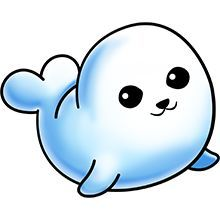 Cute Baby Seal - Lots of clip art on this site Cute Cartoon Drawings, Cute Easy Drawings, Cute Kawaii Drawings, Cute Cartoon Animals, Cute Animal Drawings, Cute Animals, 365 Kawaii, Arte Do Kawaii, Doodles Kawaii