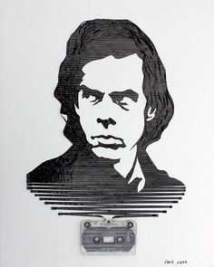 Cassette tape drawing by Erika Iris Simmons