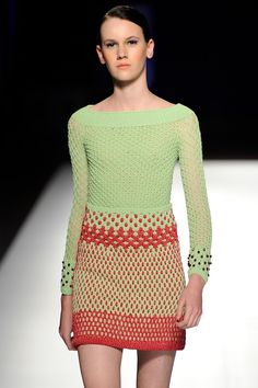 High fashion #crochet from designer Helen Rodel