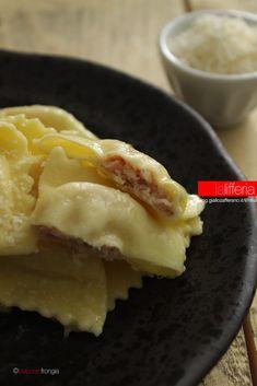 Risotto, Pasta Recipes, Cooking Recipes, Ricotta Ravioli, Italy Food, Cheesecake, Pasta Maker, Homemade Pasta, Recipe For 4