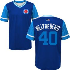 44fa9d2c0 Willson Contreras Chicago Cubs 2018 Players Weekend Youth Sublimated Jersey  Top By Majestic