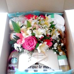 Box Desayuno Floral caja 30x30 cm Gift Wrapping, Table Decorations, Box, Floral, Gifts, Home Decor, Gourmet, Breakfast, Gift Wrapping Paper