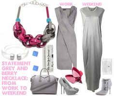 grey and berry | work to weekend