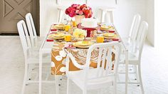 The Table Runner - Cheery Birthday Table Setting - Southern Living