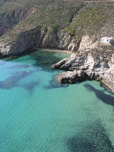 LIA BEACH ON SERIFOS ISLAND,CYCLADES                   it is a small (just 2 kilometers) beach with large pebbles and deep blue water. It used to be a very lonely beach but today it welcomes many guests