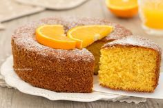 Torta senza bilancia all'arancia Bakery Recipes, Sweets Recipes, Cooking Recipes, Torte Cake, Cake & Co, Plum Cake, Italian Desserts, Sweet Cakes, Cakes And More