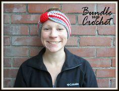Ohio State Headband Crochet Fall OSU Winter by BundleUpCrochet
