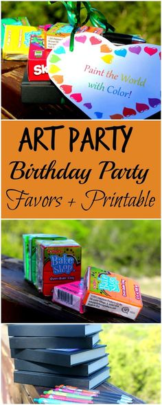 Art Party Birthday Party Favors - House of Faucis Art Party Favors, Birthday Party Favors, Diy Party, Party Ideas, Birthday Parties, Birthday Eve, Kid Parties, Craft Party, Birthday Ideas