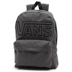 "The Old Skool II Backpack is 100% polyester and features a main compartment, front zip pocket with internal organizer, Vans Off The Wall embroidered logo and has a 22-liter capacity. (L 16 5/8"" x W 12 3/4"" x D 4 3/4"") Check out the Backpack Tech Guide for more details"