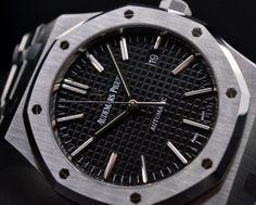 European Watch Company: Audemars Piguet Royal Oak Black Dial SS / SS