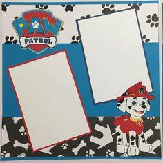 Premade Scrapbook Pages EZ Layout 3151 Paw Pup Patrol NPM