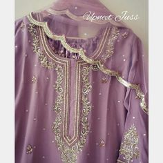 Pakistani Fashion Casual, Pakistani Dresses Casual, Pakistani Wedding Outfits, Pakistani Dress Design, Gharara Designs, Kurti Neck Designs, Dress Neck Designs, Embroidery Suits Design, Embroidery Fashion