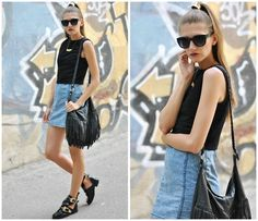 Persun Boots, Denim&Co Denim Dress, H&M Bag, Sinsay Necklace, Born Pretty Store Ring