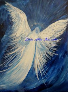 Angel Paintings Angels Painting Religious by EnjoyTheView on Etsy, $65.00