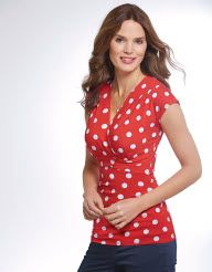 Think I could pull off these polka dots? Pepperberry - Anna Spot Top