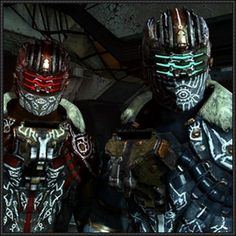 Dead Space - Isaac Clarke and John Carver Witness Suit Helmets Free Papercrafts Download - http://www.papercraftsquare.com/dead-space-isaac-clarke-john-carver-witness-suit-helmets-free-papercrafts-download.html