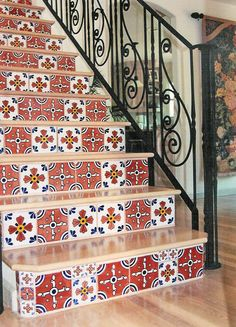 Spanish Tile Stair Risers    By Marcus Marty