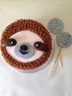 Sloth cake!
