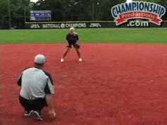 John Tschida:  Building confidence with fielding drills.  Ball on ground, run to a stationary ball, bounce hits