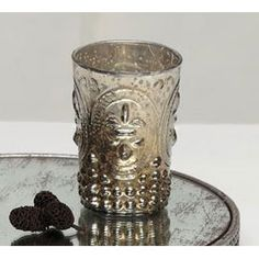 Silver Mercury Glass Tealight Holder