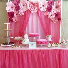 . Birthday Decorations, Baby Shower Decorations, Wedding Decorations, Paper Flower Backdrop, Giant Paper Flowers, Bday Girl, Backdrops For Parties, Deco Table, Princess Party