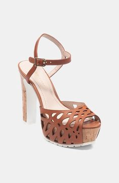 How I love this cork platform sandal ...and on sale :)