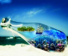 Framed Print - Sailing Ship in a Bottle (Picture Poster Ocean Sea Nautical Art) Full Hd Wallpaper, Mobile Wallpaper, 1920x1200 Wallpaper, Perfect Wallpaper, Wallpaper Desktop, Tropical Wallpaper, Tree Wallpaper, Wallpaper Pictures, Desktop Backgrounds