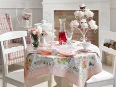 english home bahar temali masa ortusu
