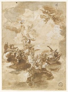 Inventaire du département des Arts graphiques - Apothéose de saint Dominique - CANUTI Domenico Maria