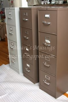 diy filing cabinet redo idea attach plastic furniture moving disks on the bottom to save floors and move easily