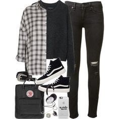 Outfit for uni with Vans and a flannel by ferned on Polyvore featuring Topshop, rag & bone, Vans, Fjällräven, Forever 21, Casetify and ASOS