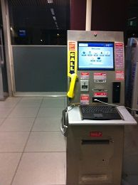 Kiosk machine the provide  various of services such as access the e-mail  ,google , charging mobile and act as public pone .