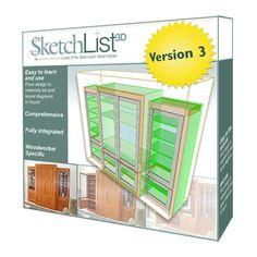 SketchList 3D Furniture Design Software, Version 3 - Rockler.com